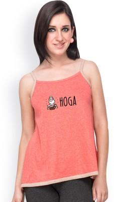 Campus Sutra Casual Sleeveless Printed Women's Orange, Brown Top