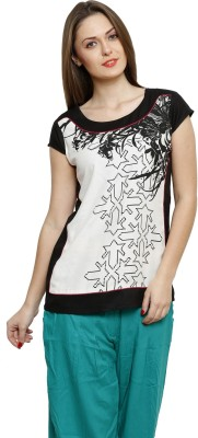 BANI Party Cap sleeve Solid Girl's White Top