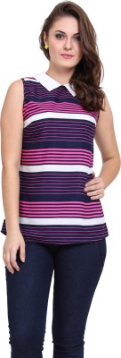 DeDe,S Casual Sleeveless Striped Women's Multicolor Top