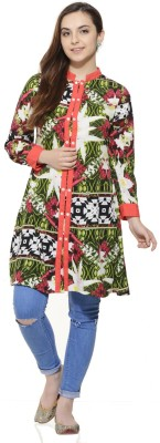Fugue Casual Full Sleeve Printed Women's Multicolor Top at flipkart