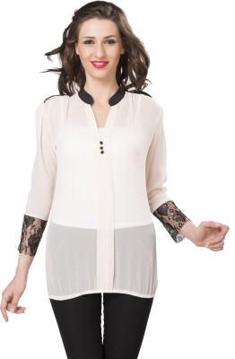IshinDesignerStudio Casual Full Sleeve Solid Women's White Top