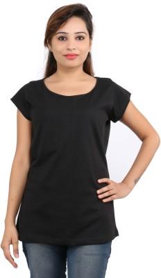 Leo Clothing Beach Wear, Casual, Festive, Formal, Lounge Wear, Party, Sports, Wedding Short Sleeve Solid Women's Black Top