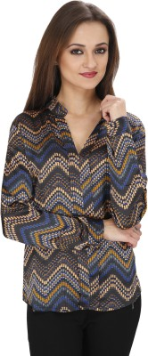 Svt Ada Collections Casual Full Sleeve Printed Women's Dark Blue Top