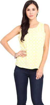 Paprika Casual Sleeveless Printed Women,s Yellow Top
