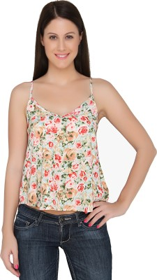 The Apparel Quotient Party Sleeveless Floral Print Women's Pink Top