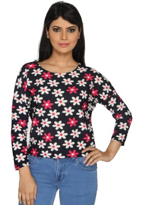 Nuts Clothing Party Full Sleeve Floral Print Women,s Multicolor Top