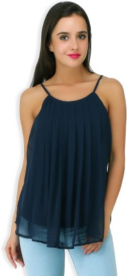 20Dresses Casual Sleeveless Solid Women's Blue Top
