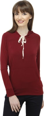 Pab Jules Casual Full Sleeve Solid Women's Red Top