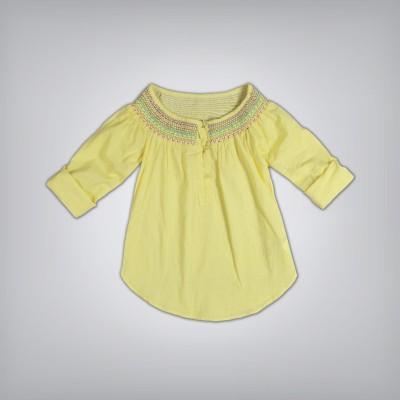 GJ Jeans Unltd Casual 3/4 Sleeve Solid Girl's Yellow Top