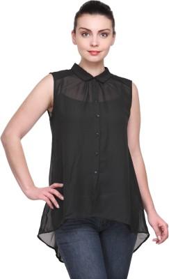 Karyn Casual Sleeveless Solid Women's Black Top
