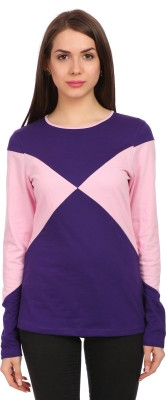 Legona Casual Full Sleeve Solid Women's Purple, Pink Top