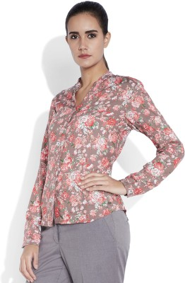 Park Avenue Formal Full Sleeve Printed Women's Red Top