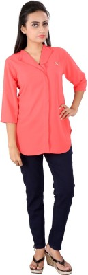 Go4it Casual, Party 3/4 Sleeve Solid Women,s Red Top