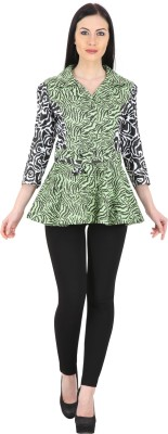 Woodin Casual 3/4 Sleeve Printed Women,s Multicolor Top