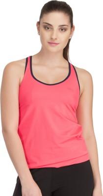 Clovia Casual Sleeveless Solid Women's Orange Top
