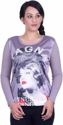 Sellsy Casual Full Sleeve Graphic Print Women's Purple Top