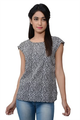 Lamora Casual Short Sleeve Polka Print Women's Multicolor Top
