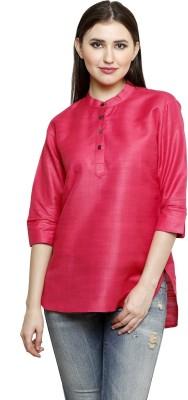 Dhrohar Casual 3/4 Sleeve Woven Women,s Pink Top