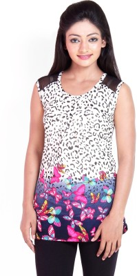 Scarlett Casual Sleeveless Floral Print Women's Pink Top