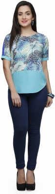 V&M Casual Short Sleeve Printed Women's Multicolor Top