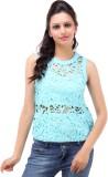 Kashana Fashions Party Sleeveless Self D...
