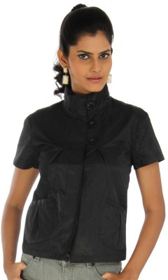 CacheCache Casual, Formal Short Sleeve Solid Women's Black Top