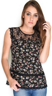 French Creations Casual Sleeveless Printed Women's Multicolor Top