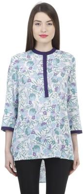 Uptowngaleria Formal 3/4 Sleeve Printed Women's Blue Top