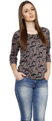 Fusion Mela Casual 3/4 Sleeve Floral Print Women's Multicolor Top