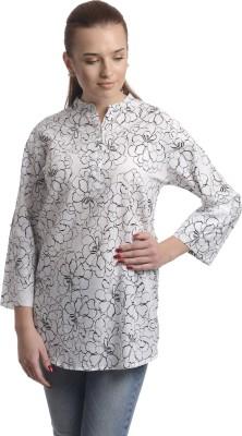Stoee Casual Full Sleeve Printed Women's White Top