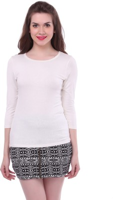 Colors Couture Casual Full Sleeve Solid Women's White Top