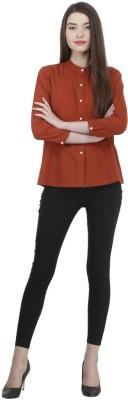 Uptowngaleria Formal 3/4 Sleeve Solid Women's Maroon Top