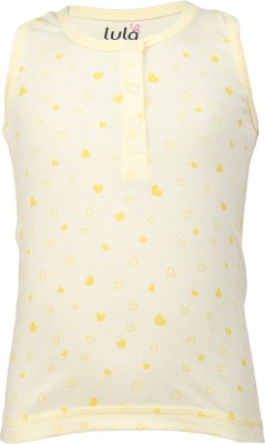 Lula Casual Sleeveless Floral Print Baby Girl's Yellow Top