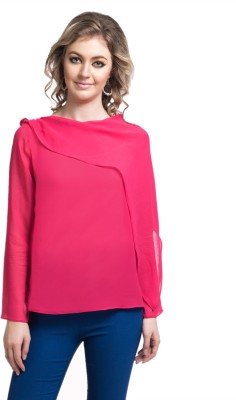 Uptownie Lite Party Full Sleeve Solid Women's Pink Top