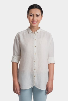Bhane Casual Short Sleeve Solid Women's White Top