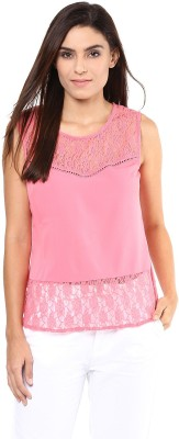Harpa Party Sleeveless Woven Women's Pink Top
