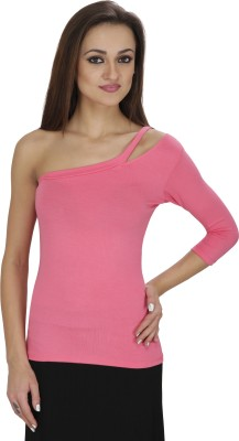 Svt Ada Collections Party 3/4 Sleeve Solid Women's Pink Top