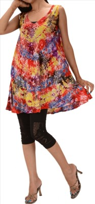 Skirts & Scarves Casual Sleeveless Printed Women's Multicolor Top