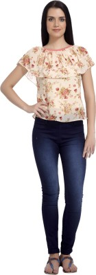 Mineral Casual Butterfly Sleeve Printed Women's Pink Top