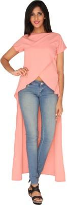 AATMIK Casual Cap sleeve Printed Women's Pink Top