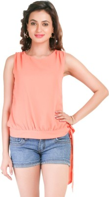 Big Tree Casual Sleeveless Solid Women's Pink Top
