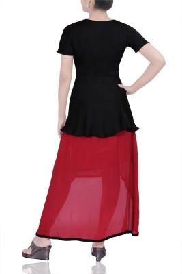 TheHLabel Lounge Wear Short Sleeve Solid Women's Black Top