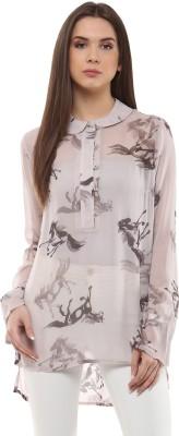 Rose Vanessa Casual Full Sleeve Printed Women's Beige Top