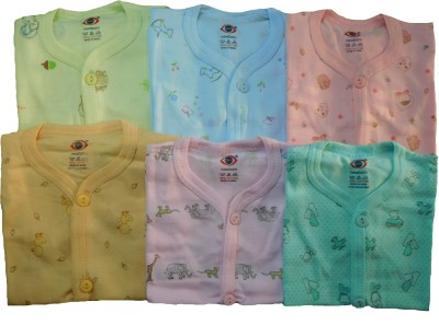 Zero Casual Short Sleeve Solid Baby Girl's Green, Pink, Yellow, Blue, Light Green Top