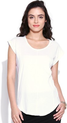 Butterfly Wears Casual Short Sleeve Solid Women's White Top