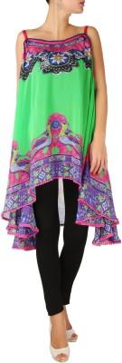 Karmik Casual Sleeveless Printed Women's Multicolor Top