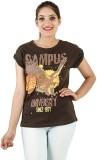 Opiumstreet Casual Roll-up Sleeve Printe...