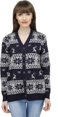 Camey Casual Full Sleeve Printed Women's Blue Top