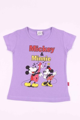Disney Casual Short Sleeve Graphic Print Girl's Purple Top
