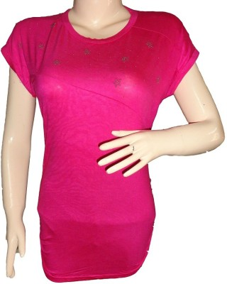 Dream Fashion Casual Short Sleeve Woven Women's Pink Top